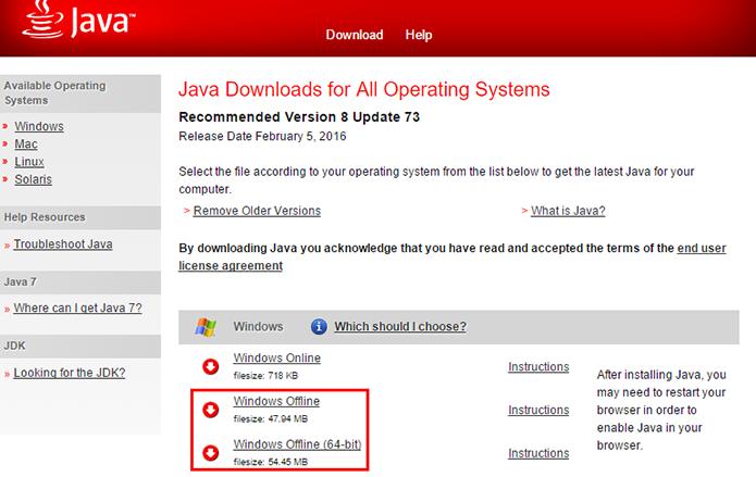 Installer Download: Java 64-bit Offline Installer Download