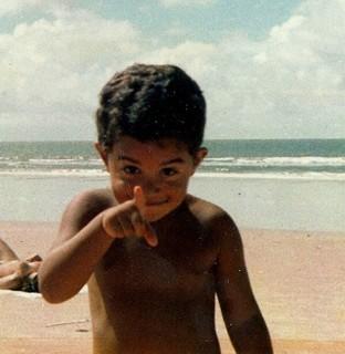 Alan Garcia quando era criança (Foto: Arquivo pessoal)