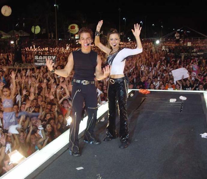 Os irmãos ainda na época de Sandy e Junior (Foto: Arquivo pessoal)