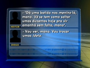 Polícia registrou pedido de drogas (Foto: Reprodução / TV TEM)