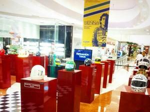 """Exposição """"Senna na cabeça e no coração"""" poderá ser conferida em Belo Horizonte até o dia 24 (Foto: Divulgação  )"""