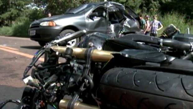 Acidente em Santa Rosa matou uma jovem de 22 anos (Foto: Reprodução/RBS TV)