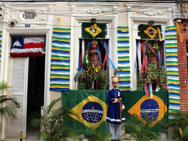 Fachada vencedora do concurso no 2 de Julho, em 2013 (Foto: Ipac/ Divulgação)