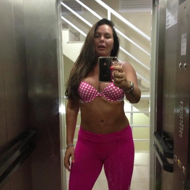 Cristina Mortágua no elevador (Foto: Instagram / Reprodução)