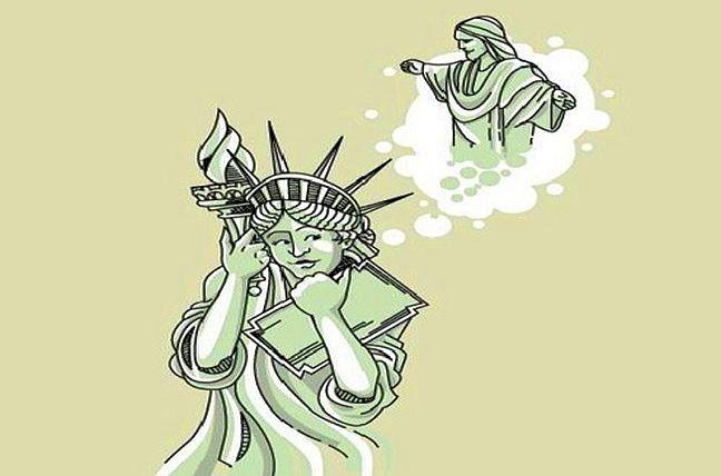 Estátua da Liberdade e Cristo Redentor (Foto: Arquivo Google)