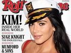 Kim Kardashian mostra sutiã vermelho em capa de revista