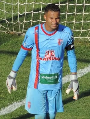Camilo, goleiro do Grêmio Prudente - contra o Tupã (Foto: João Paulo Tilio / GloboEsporte.com)