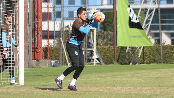 Marcelo Grohe treino do Grêmio Cidade do México (Foto: Eduardo Moura/GloboEsporte.com)