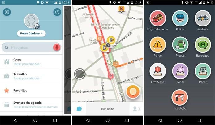 Visual mais limpo facilita o uso do Waze no trânsito (Foto: Reprodução)