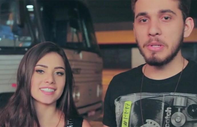Flavia Pavanelli e Gustavo Mioto mostram bastidores da gravação do clipe 3 da Manhã (Foto: Reprodução)