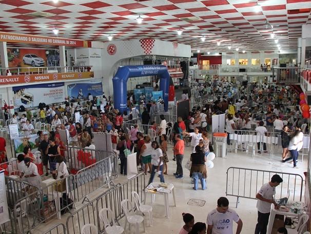 Mais de 50 mil pessoas passaram pela quadra do Salgueiro, na edição carioca da Ação Global Nacional 2014 (Foto: Divulgação/ Lucas Conrado)
