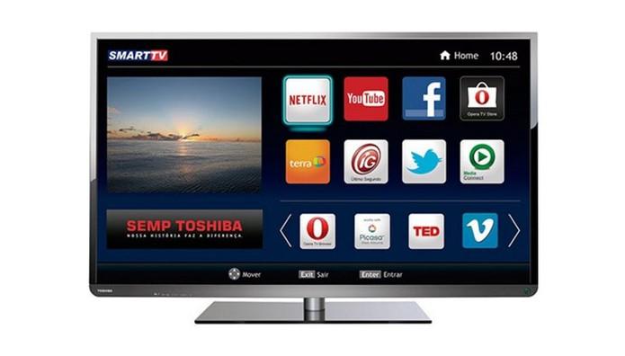 Smart TV Toshiba vem com Wi-Fi integrado e qualidade Full HD (Foto: Divulgação/Toshiba)