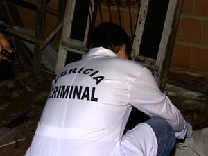 Polícia acredita que o crime foi um acerto do tráfico de drogas, no Espírito Santo (Foto: Reprodução/TV Gazeta)