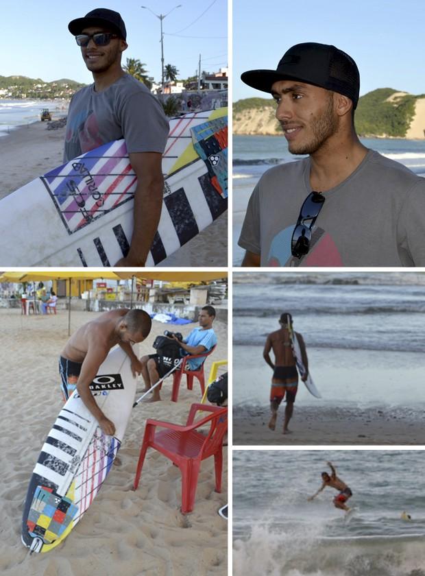Jadson André retorna a Ponta Negra - surf (Foto: Jocaff Souza)