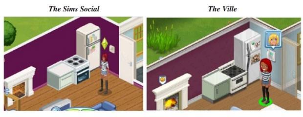 CEna compara os games 'The Sims Social', da EA, com 'The Ville', da Zynga (Foto: Reprodução)
