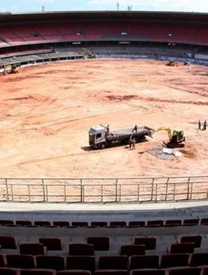 obras estádios copa do mundo brasil 2014 - mineirão (Foto: Reprodução / Site da FIFA)