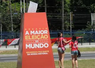 urna eleição Inter Beira-Rio (Foto: Tomás Hammes / GloboEsporte.com)