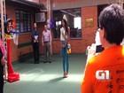 'Incrível', diz Miss Brasil em visita a alunos com síndrome de Down no RS