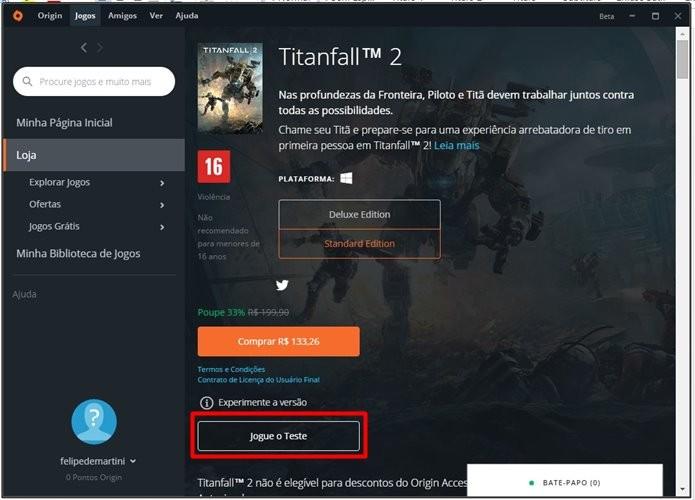 Teste gratuito de Titanfall 2 dá acesso completo ao modo multiplayer (Foto: Reprodução/Felipe Demartini)