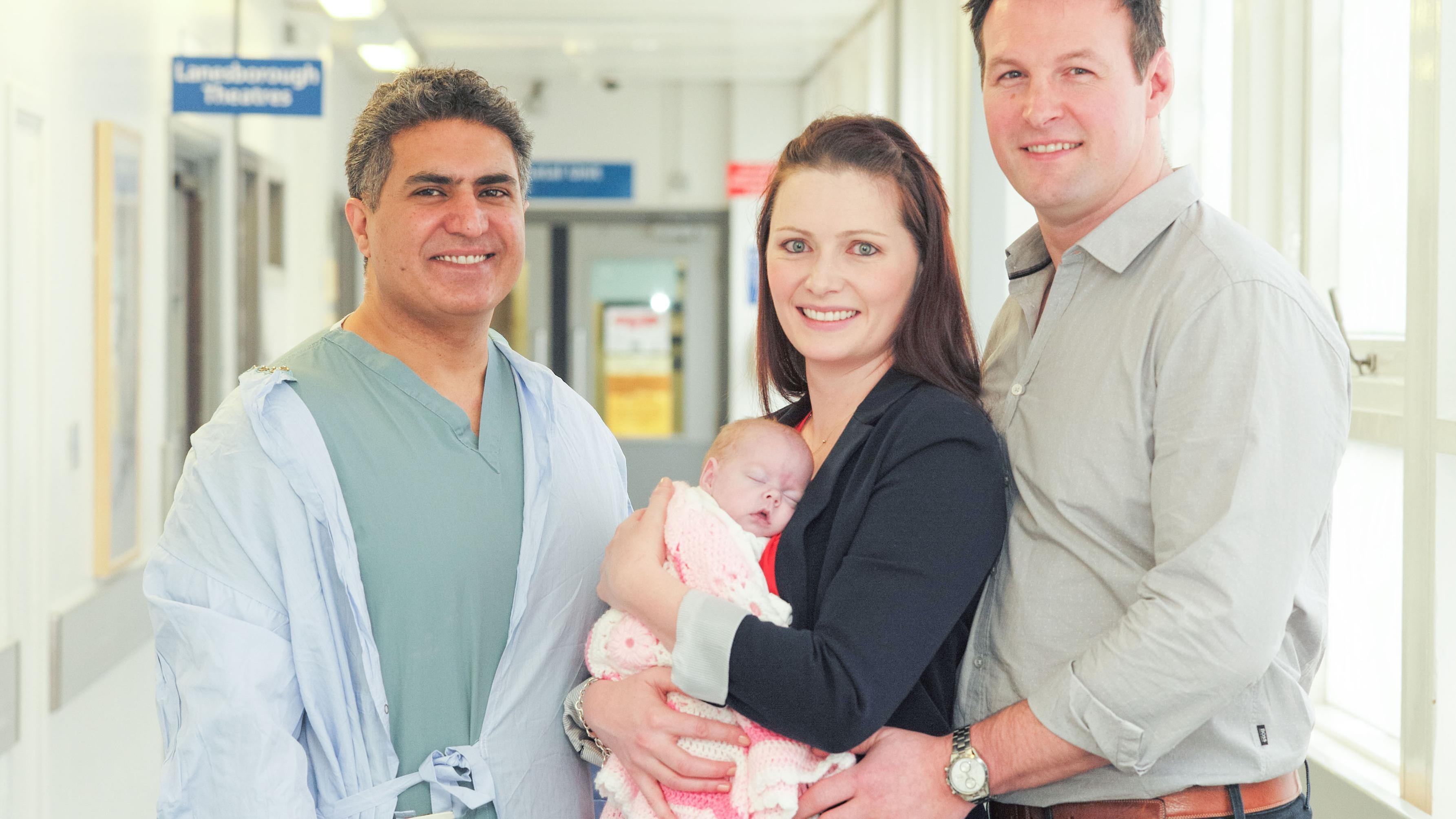 Zahid Mukhtar, Abiageal Peters e seus pais Louise e David (Foto: Divulgação)