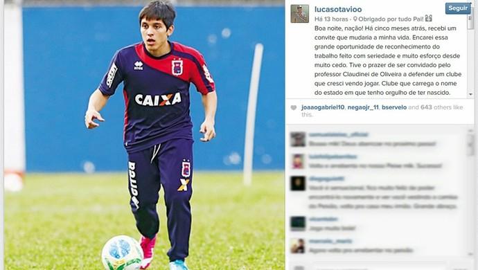Lucas Otávio Paraná Clube (Foto: Reprodução/Instagram)