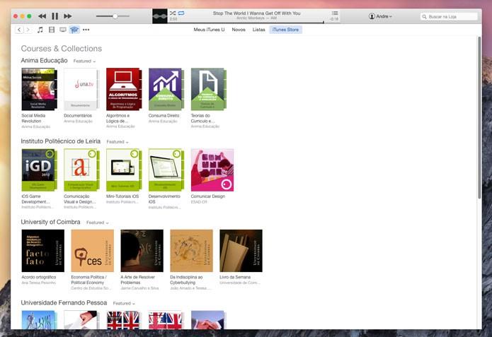 Estude com o iTunes(Foto: Reprodução/André Sugai)