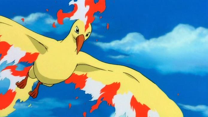 Moltres ainda não é capturável em Pokémon Go (Foto: Divulgação/Nintendo)
