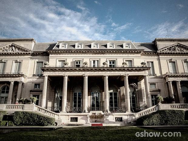 Mais uma olhada geral na mansão dos Mahler (Foto: Fábio Rocha / TV Globo)