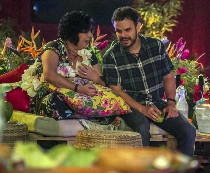 Mariza e Adrilles viraram melhores amigos na última edição do reality (Foto: TV Globo)