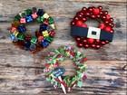 Natal em tempos de crise: aprenda  a fazer três guirlandas baratinhas
