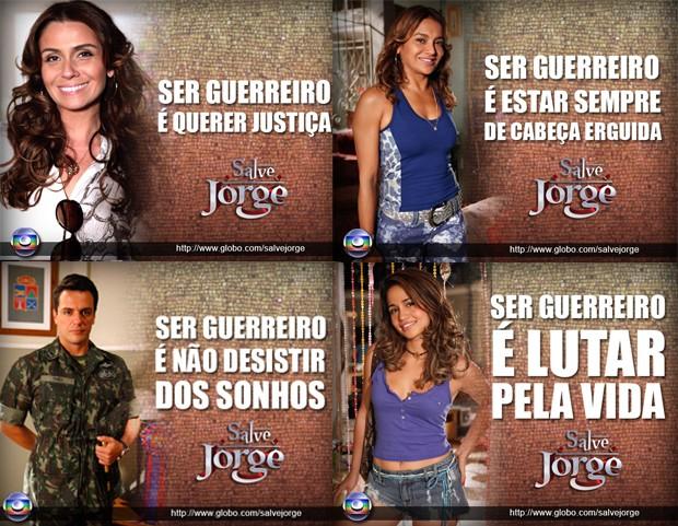 Salve, Jorge! Ser guerreiro é... (Foto: Salve Jorge / TV Globo)