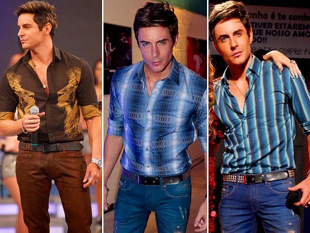Fabian em três momentos: puro estilo (Foto: Cheias de Charme / TV Globo)
