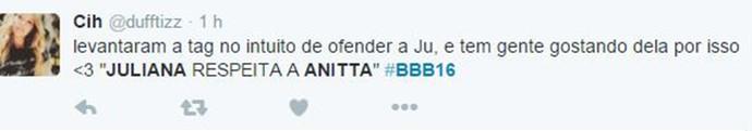 Comentário Anitta 2 BBB16 (Foto: Reprodução Internet)
