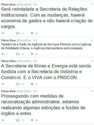 Governador do MA anunciou mudanças no Twitter (Foto: Twitter/@flaviodino)