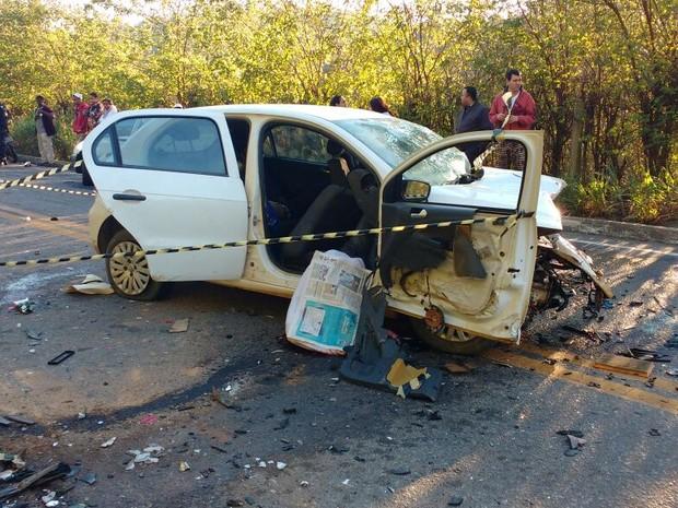 Acidente deixou três mortos em Marataízes (Foto: VC no ESTV)