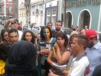 Caminhada no Recife (Foto: Luna Markman / G1)