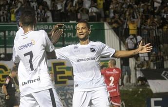 """No ABC, Felipe Guedes ganha moral com Geninho: """"Muita qualidade"""""""