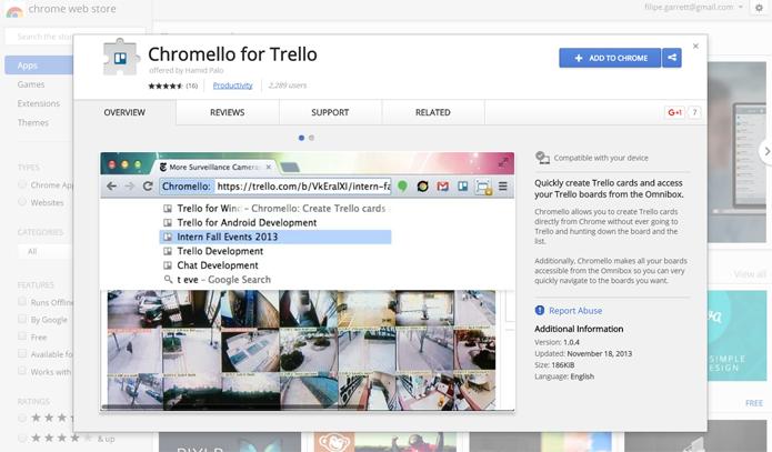 Extensão do Chrome é uma mão na roda para quem usa o Trello no navegador do Google (Foto: Reprodução/Filipe Garrett)