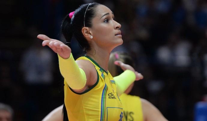 Jaqueline Brasil x EUA mundial feminino de vôlei (Foto: Divulgação / FIVB)