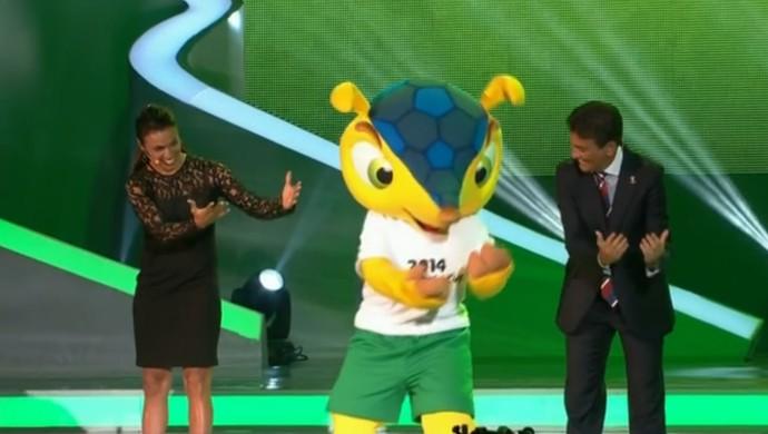 Marta Bebeto e Fuleco Sorteio Final Copa do Mundo (Foto: Reprodução SporTV)