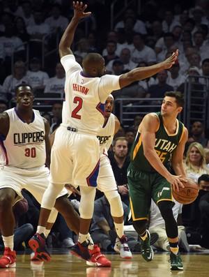 Raulzinho Jazz x Clippers NBA (Foto: Reuters)