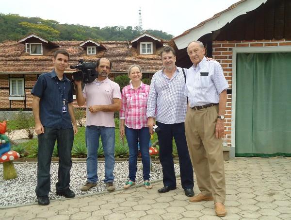 Equipe grava segunda temporada da série 'Viva Blumenau' (Foto: Divulgação)
