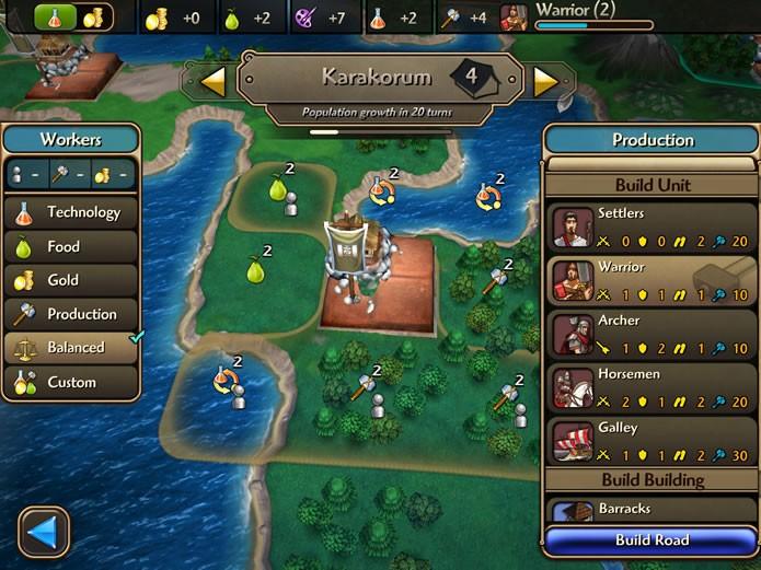 O gerenciamento das cidades é feito através de comandos mais dinâmicos em uma interface própria (Foto: Reprodução/Daniel Ribeiro)