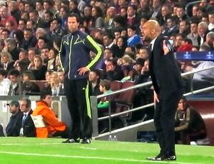 Pep Guardiola jogo Barcelona especial Messi (Foto: Cahê Mota / Globoesporte.com)