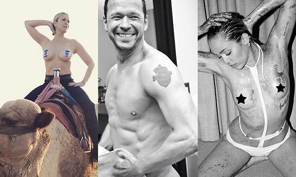Chelsea Handler, Donnie Wahlber, Miley Cyrus (Foto: Instagram)