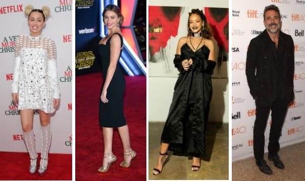 Miley Cyrus, Sofia Vergara, Rihanna e Jeffrey Dean Morgan (Foto: Getty Images)