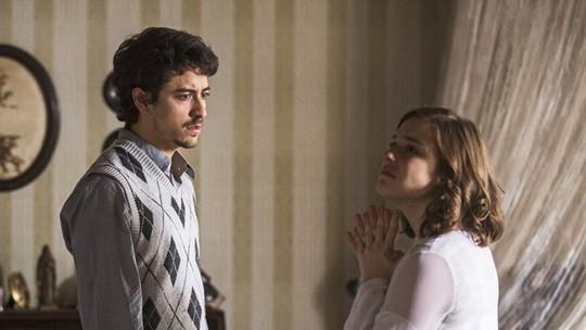 Felipe descobre que Cecília está grávida de Augusto e jura vingança