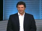 Fernando Haddad é entrevistado pelo SPTV