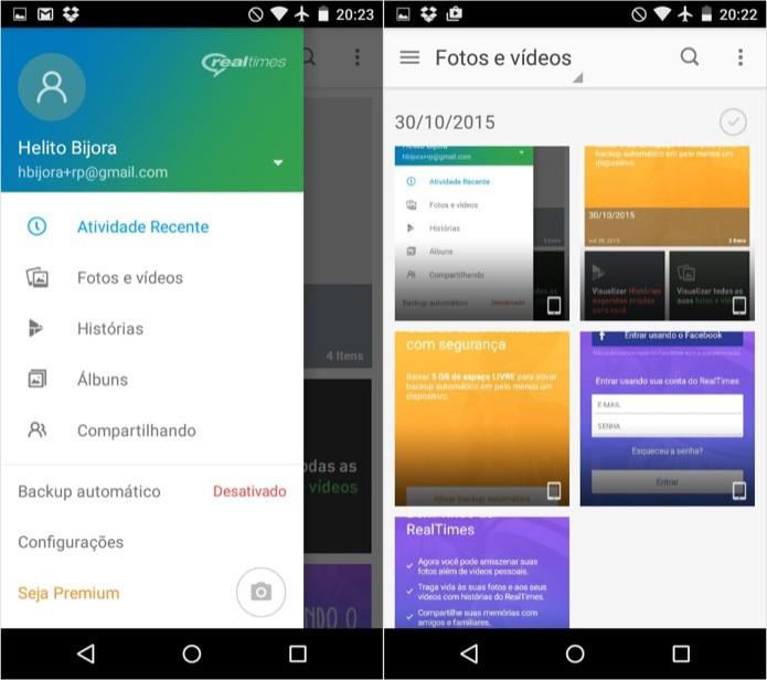 Abra o menu do aplicativo para acessar as categorias (Foto: Reprodução/Helito Bijora)