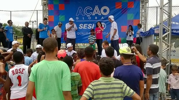 Ação Global movimenta Santo Antônio de Pádua (Globo/Anderson Ramos)
